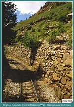 Original Colorado Central Railroad Retaining wall on the Georgetown Loop Railroad _ Georgetown, Colorado _  (176k)