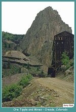 Ore bins at the Nelson 