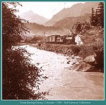 Train leaving Ouray, Colorado -- 1910