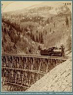 Denver and Rio Grande Railroad locomotive on Marshall Pass -- 1884 - (Image 00126) (161k)