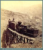 Colorado Central Railroad --  Mountain City Bridge between Black Hawk and Central City - 1879 -- (Image 00143) (157k)