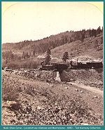 Denver &Rio Grande - Mule Shoe Curve - Locomotives Alamosa and Montezuma -1880 (Image 00193) (197k)