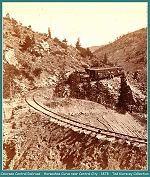 Colorado Central Railroad - Horse Shoe Curve near Central City - 1878