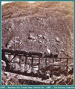 Colorado Central Railroad - Central City - Mountain City Trestle - 1880 - (Image 00253) (201k)