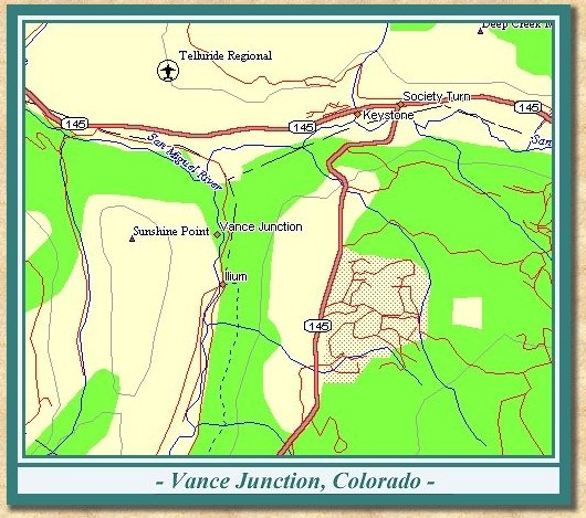 Map of Vance Junction Area